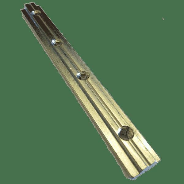 Nutenstein Verbinder 180 mm mit M8 Gewindebohrung