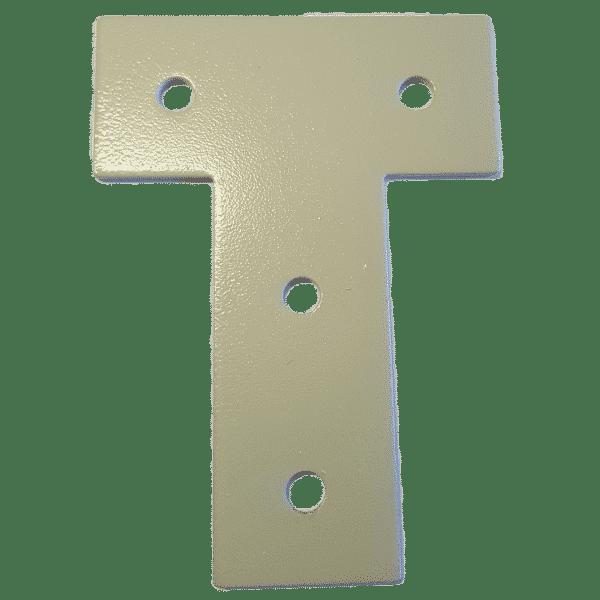 Befestigungsplatte aus Stahl lackiert mit 4 Bohrungen